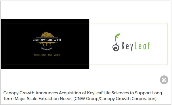 Canopy Growth Announces Acquisition of KeyLeaf Life Sciences to Support Extraction Needs